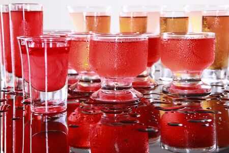 Cosmopolitan, Hurricane, Ice Tea, Cherry Cream, and Strawberry Daiquiri Stock Photo - 14040565