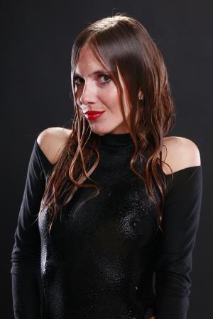Wet girl photo