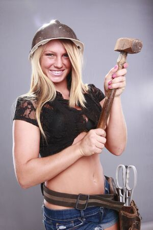 Cute handyman Stock Photo - 14624196