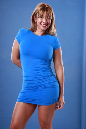 Fit young lady in blues Stock Photo - 14958164