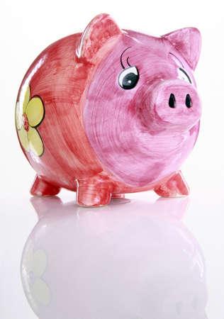 Colorful ceramic piggy bank Stock Photo - 16916019
