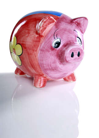 Colorful ceramic piggy bank Stock Photo - 16915997