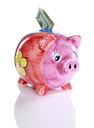 Colorful ceramic piggy bank Stock Photo - 16915996