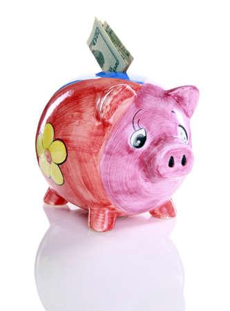 Colorful ceramic piggy bank Stock Photo - 16915996