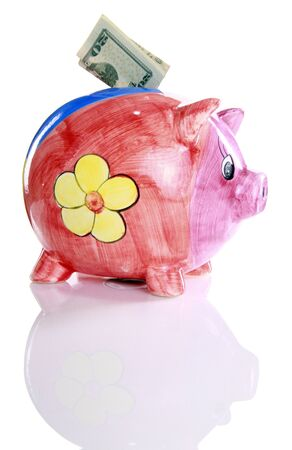 Colorful ceramic piggy bank Stock Photo - 16916016