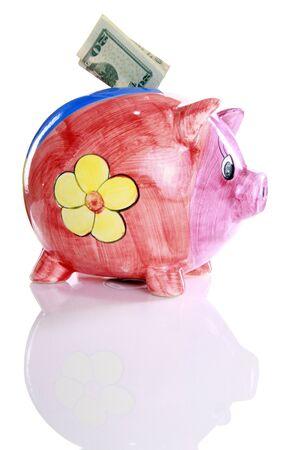 Colorful ceramic piggy bank Stock Photo - 16916016