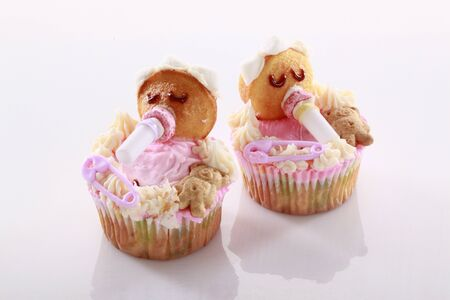 Baby shaped cupcakes photo