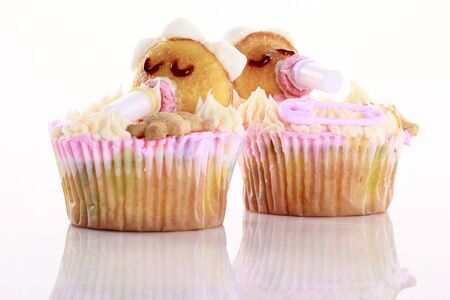 Baby shaped cupcakes Stock Photo - 16916033
