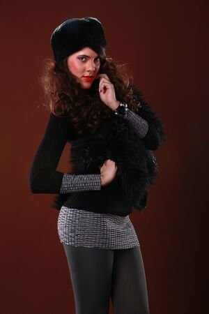 Cute girl in fall attire Stock Photo - 17124929