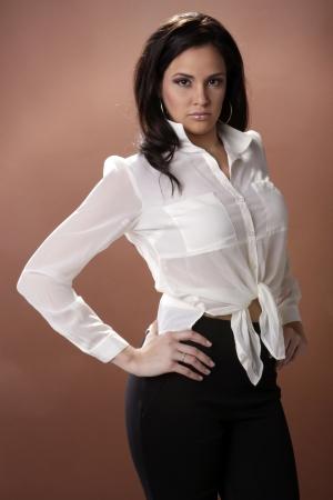 Hispanic cover girl Stock Photo - 17124893