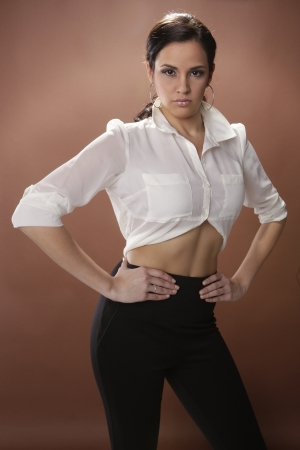 Hispanic cover girl Stock Photo - 17124861