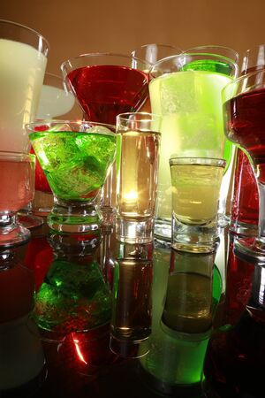 Colorful cocktail variety Stock Photo - 17124982