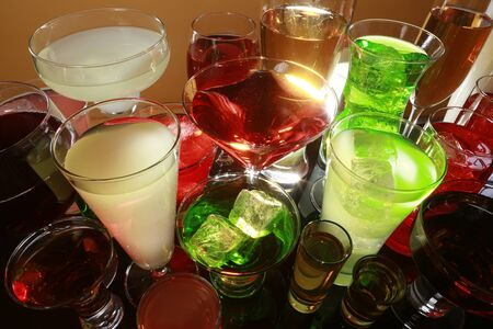 Colorful cocktail variety Stock Photo - 17124985