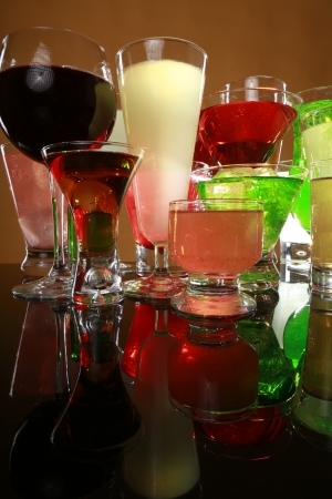 Colorful cocktail variety Stock Photo - 17124919