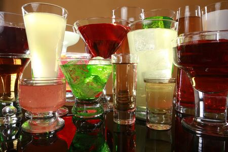 Colorful cocktail variety Stock Photo - 17124938