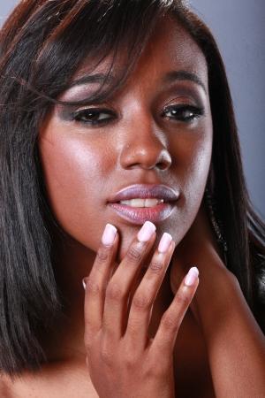 polish: Cote girls head shot Stock Photo