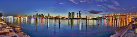 hdr: Downtown Miami hdr panorama Stock Photo
