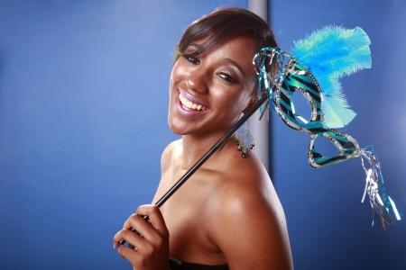 Blue Mardi Gras, happy carnival Stock Photo - 18122628