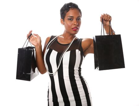 Caribbean girl does her shopping photo