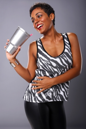 sugary: Large sugary drink Stock Photo