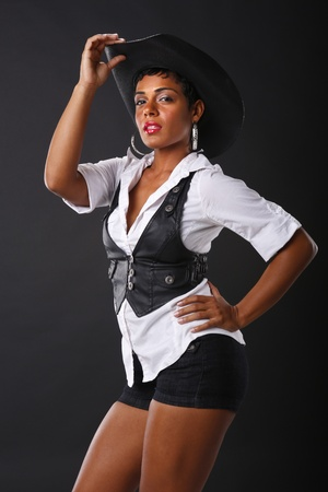 cowgirls: Black and white color cowgirl