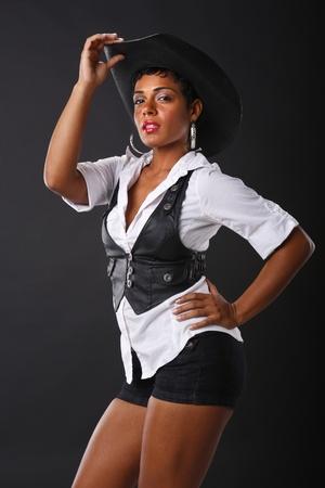 vaqueritas: Color negro y blanco cowgirl