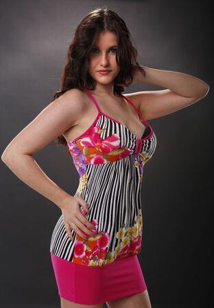 Gorgeous brunette in summer attire Stock Photo - 18970860