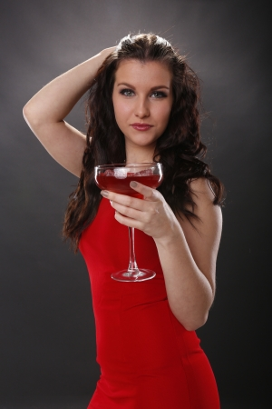 Strawberry margarita girl Stock Photo - 18970865