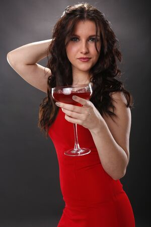 Strawberry margarita girl Stock Photo - 18970869