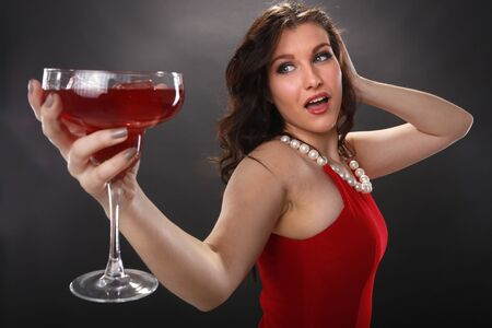 Strawberry margarita girl Stock Photo - 18970846