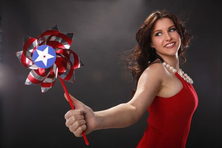 Patriotic pinwheel Stock Photo - 18970844
