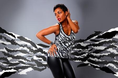 tight body: Extended zebra