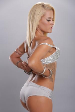 irish woman: Sexy blonde woman posing Stock Photo