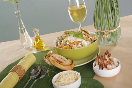 tonight: Shrimp pasta tonight