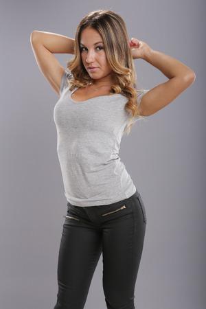 jeans apretados: Todo en gris