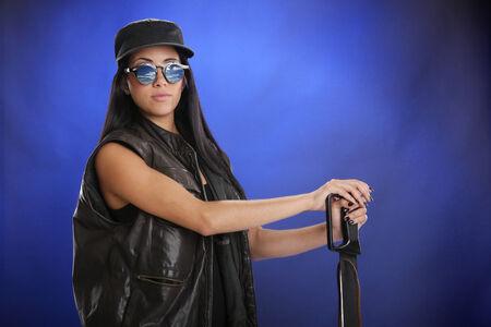 machete: Tactical attire and machete in hand