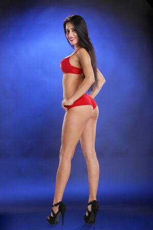 bikini model: Intimate apparel model Stock Photo