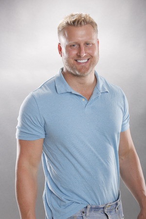 Smiling man in cotton casual