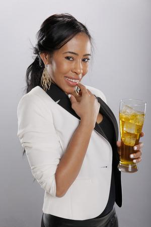big women: Nice cold drink in good hands