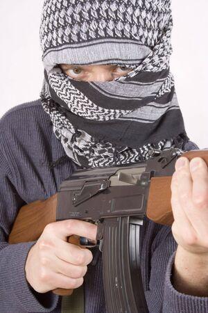 Cara realista de terroristas  Foto de archivo - 432803
