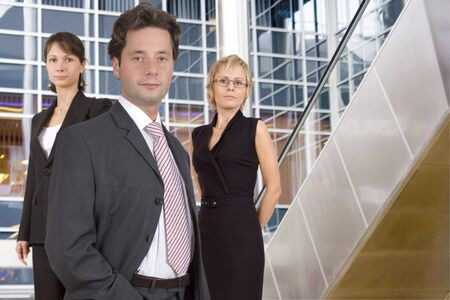 Group of businesspeople standing photo