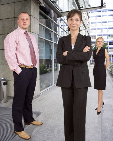 businesswear: Group of businesspeople standing