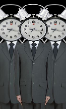 obedient: obedient office workers (digital composition)