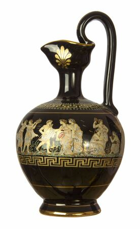 grecian: isolated ancient greek style jug