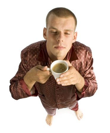 evoke: man with a cup of coffee