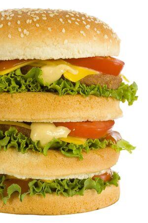 nutriments: huge hamburger - closeup front view