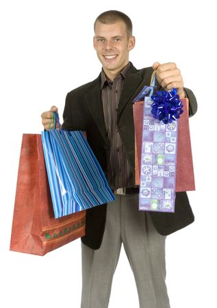 goodie: isolated man with gifts