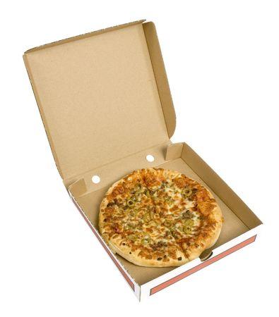 nutriments: pizza aislado en una caja de cart�n
