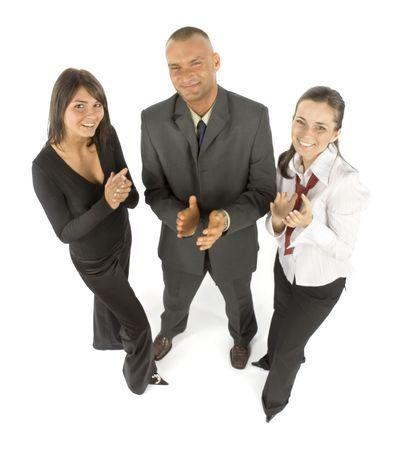approbation: isolated business teams approbation Stock Photo