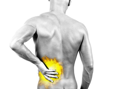 backache - isolated digital composition with flames Stock Photo - 539293
